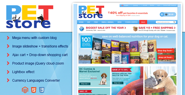 banner pet store