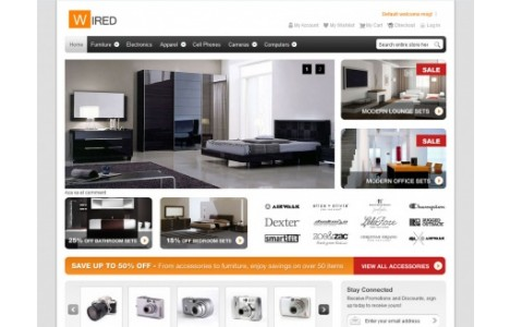 Hellowired free theme computers electronics magento for Magento community templates