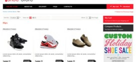 Shoes Store: Responsive layout integrated with Bootstrap