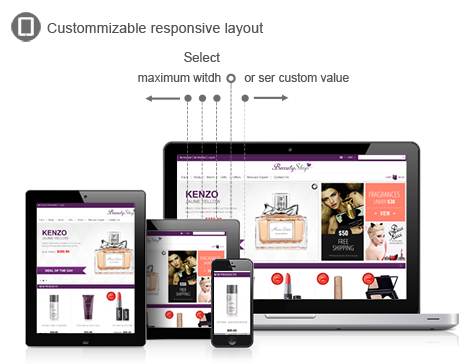 magento beauty shop responsive layout