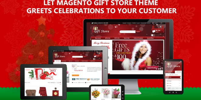 Let Magento Gift Store Theme greets celebrations to your customer !