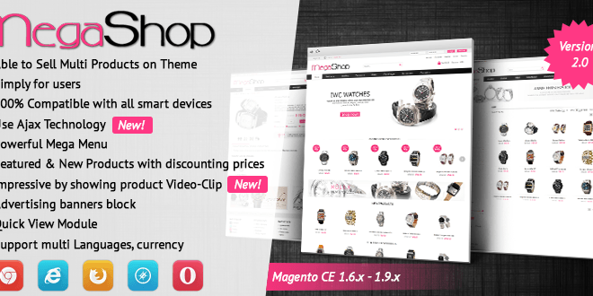 Megashop v2.0 – Beautiful Multi-purpose Magento Responsive Theme