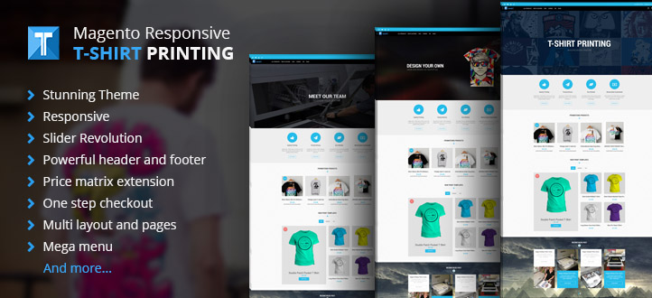 Magento T-shirt printing website theme